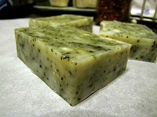 Basil soap idea! I have some leftover basil (and grow my own ...