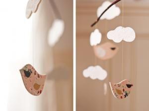 DIY – Le mobile Cloud and Bird (les moineaux ont la tête dans les nuages) • Hellocoton.fr