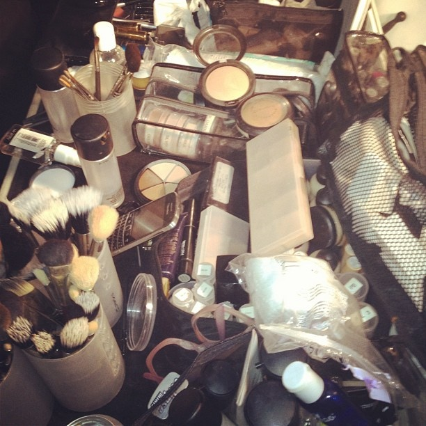 We wish our vanites were stock with this many #maccosmetics- backstage @ilove_libertine #nyfw
