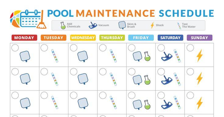 Pool Maintenance Schedule Pdf Swimming Pools Pool
