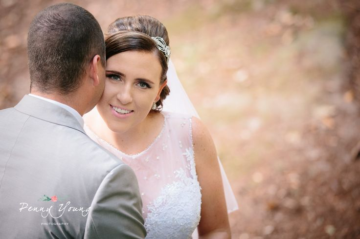 Bride and groom portraits.  Summer wedding at High Rocks in Tunbridge Wells Kent.  Church wedding. St Pauls Church in Rusthall Tunbridge Wells Kent. Photography by Penny Young Photography.