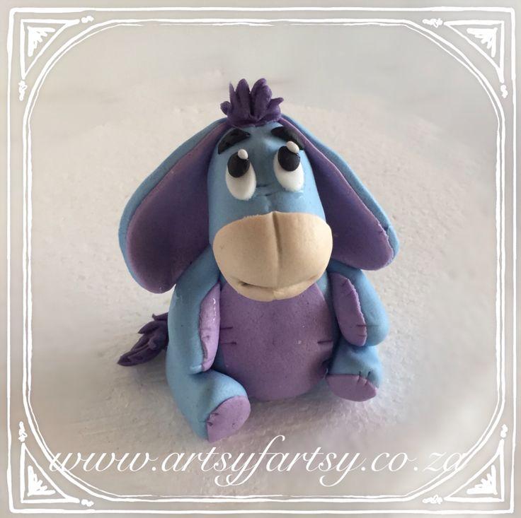 Eeyore Sugar Figurine #eeyoresugarfigurine #eeyorecaketopper