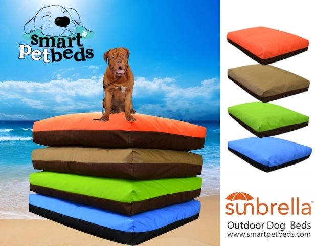 Smart Pet Beds - Outdoor Dog Beds made with Sunbrella - Orthopedic Dog Beds - All Size Pets