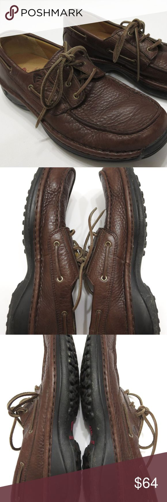"""Red Wings Oxford 9 B Narrow Brown Pebbled Leather Red Wings Oxford 9 B Narrow Brown Pebbled Leather Mens Boat Deck Shoes 4050    Pebbled Leather     Removable Cushioned Insole     Rubber Heel Guard     Ridged Rubber Sole  11"""" / 27.94 cm Length - Toe to Heel inside 4 1/2"""" / 11.43 cm Width at widest part of sole outside      All items from a smoke and pet free environment Condition - light scuffs Red Wing Shoes Shoes Oxfords & Derbys"""