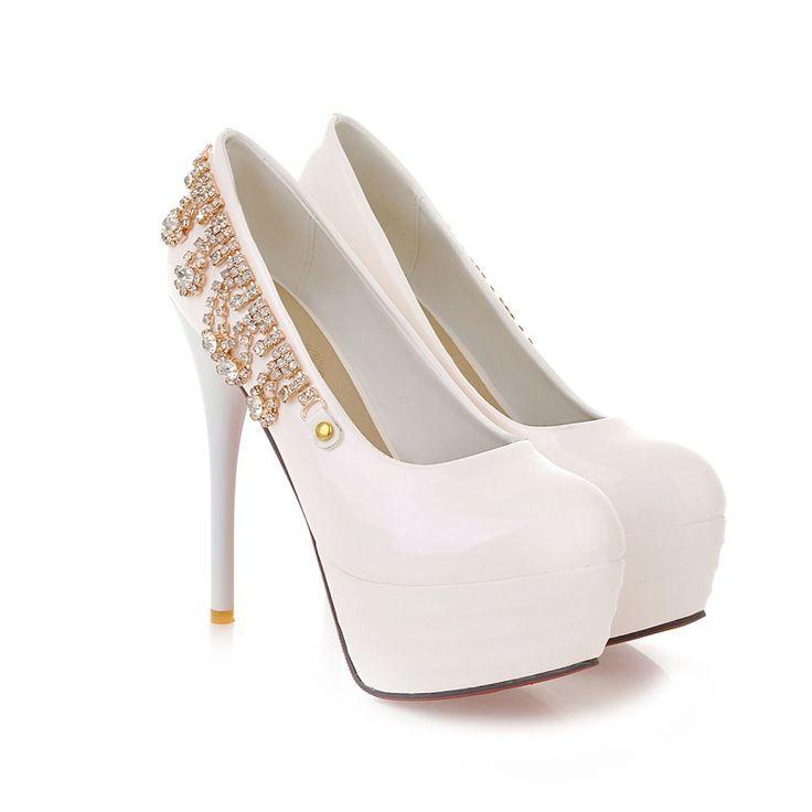 Шкаф сексуальный черный белый зеленый супер высокие каблуки женщины гламур глянцевый туфли на высоком каблуке платформы дамы ам-1 плюс большой размер 32 43 10