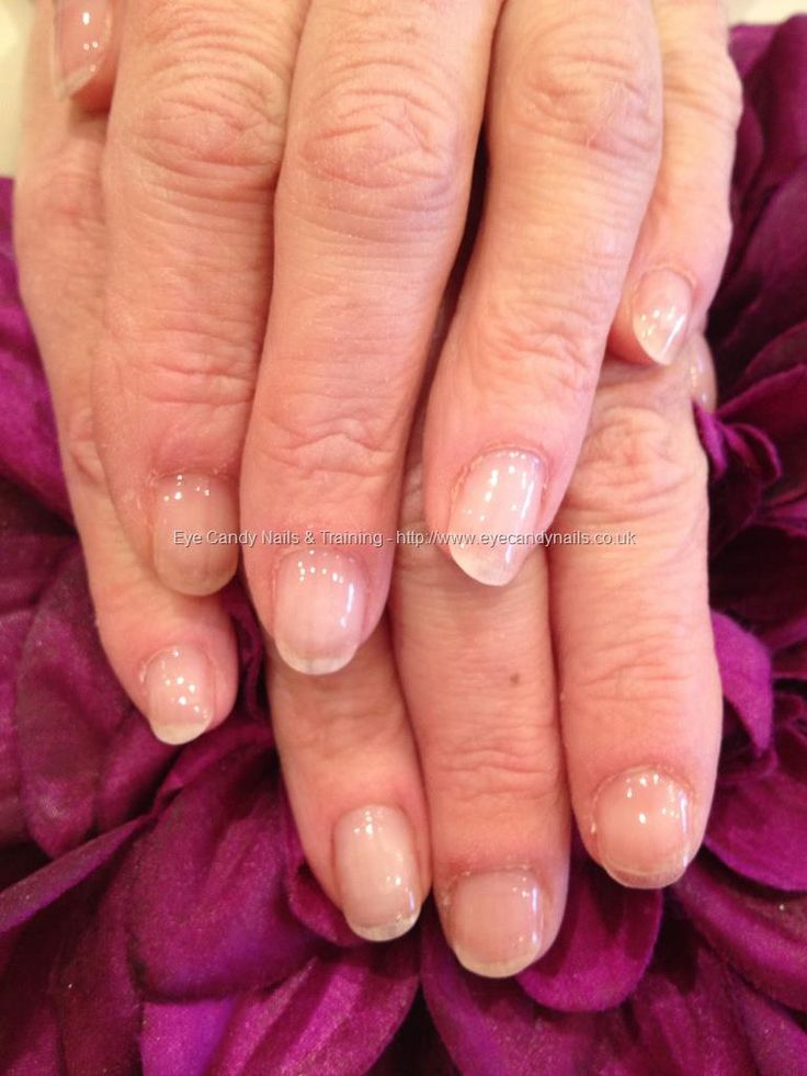 Nature Nails Nails Art: Natural Nails With Clear Soak Off Gel Coating