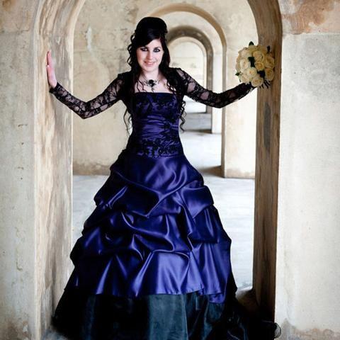 Stunning Purple Gothic Wedding Dress