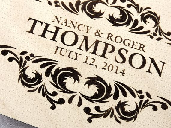 Custom Wood Wedding Guest Book, Wedding Present, Anniversary Gift, Bride and Groom, Bridal Shower Book, Wedding Photo Album