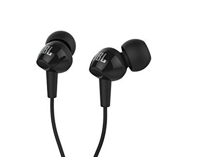 JBL C100SI In-Ear Headphones with Mic (Black)