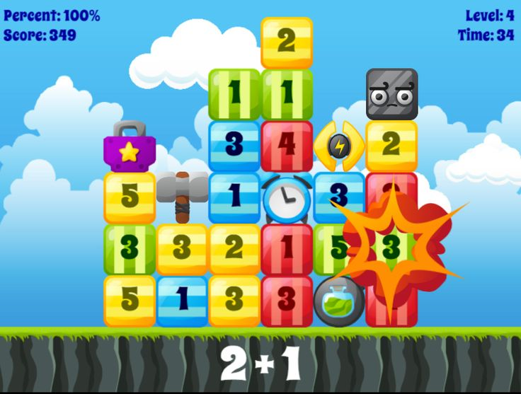 Play on ANY device! Boom Blocks allows students to practice number recognition, adding, subtracting, multiplication, and division in a fast-paced, fun way! RoomRecess.com