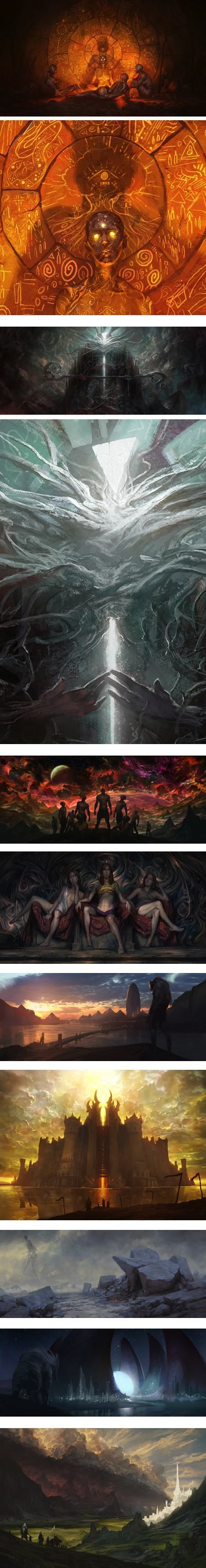 "Noah Bradley, concept art and illustration. Noah Bradley is a concept artist and illustrator, known in particular for his work on the ""Magic: The Gathering"" card-based games."