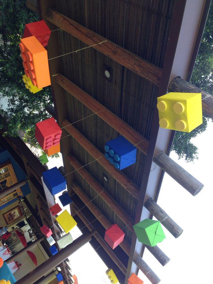 Decoracion de Fiesta Lego Hecha X Mi!