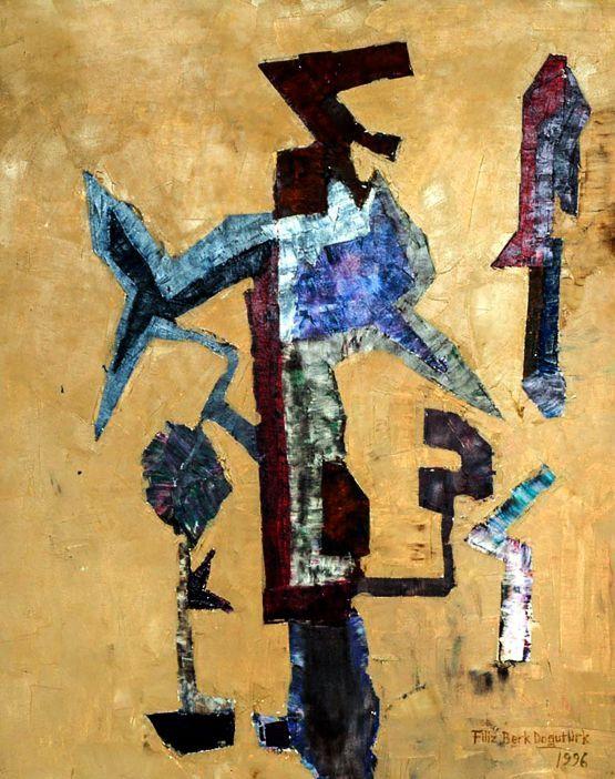 Ağaçlar by Filiz Berk Doğutürk. Resim, Tuval üzerine Yağlı Boya, Ebat: 65 cm x 80 cm. Eser Gallerymak.com tarafından satılmaktadır. | #artoftheday #modernart #contemporaryart #ressam #painter #abstract #abstractart #soyut #painting #instaart #worldofart #fineart #arte #kunst #contemporary #art