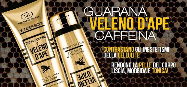 Wonder Body guaranà e caffeina contrastano gli inestetismi della cellulite e rendono la pelle liscia, morbida e tonica!