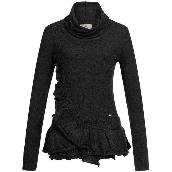 Khujo Damen Feinstrickpullover Sunk Damenpullover Strickpullover... ❤ liked on Polyvore featuring tops, sweaters, sweater pullover, pullover tops and pullover sweater