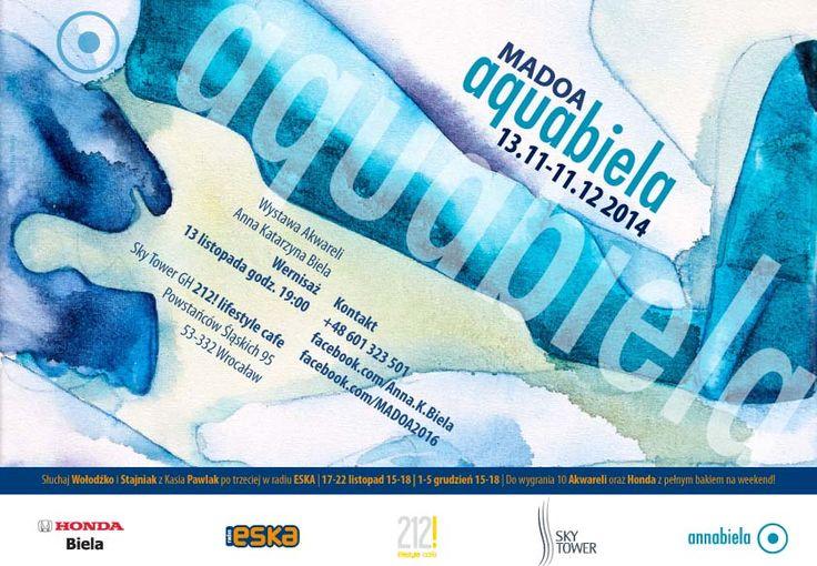 Przypominamy! Od jutra w 212! lifestyle cafe MADOA aquabiela, wystawa Akwareli autorstwa Anny Biela.  Serdecznie zapraszamy!