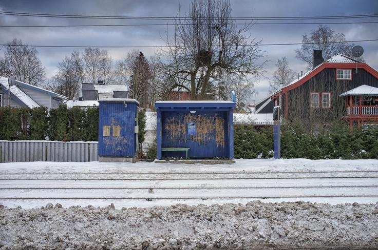 Abandoned tram stop, Oslo