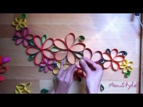 Kerajinan Tangan Hiasan Dinding Dari Kertas Warna - YouTube