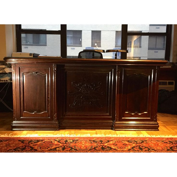 Solid Ebony Executive Desk