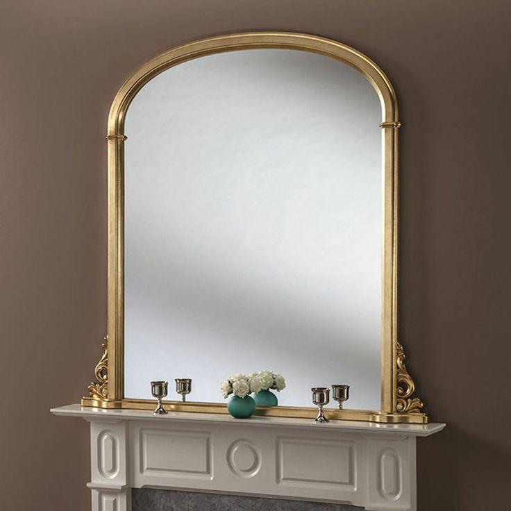 Gold leaf overmantle mirror