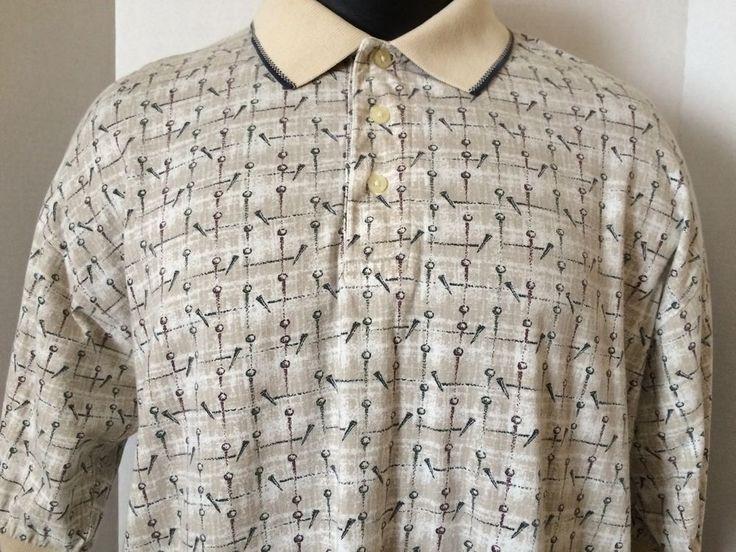Steve Stricker Fairway Sports Golf Polo Shirt Mens Size L