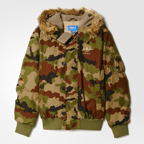 Camouflage Bomber Jacket - Multicolor