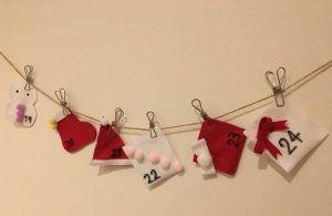100均クリスマス工作♪フェルトとボンドで簡単!縫わずにできる♪【布の手作りクリスマスアドベントカレンダーの作り方③】子供部屋の飾りとしても♪