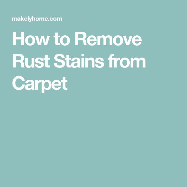 25+ unique Remove rust stains ideas on Pinterest