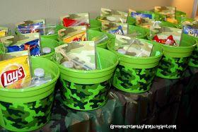 Greene Acres Hobby Farm: Army Camoflauge Birthday Party