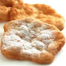 country fair fried dough    this reminds me of college ... i had a roommate who ALWAYS made fried dough for a snack ... yuuuummmmm now i'm craving it