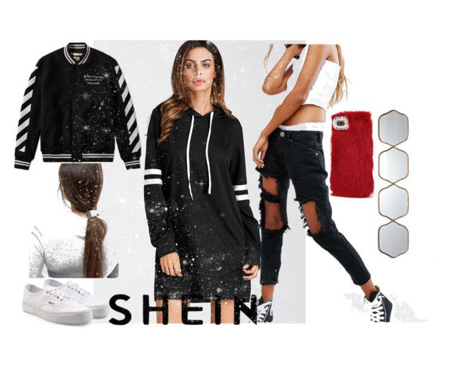"""""""shein"""" by anelia-georgieva ❤ liked on Polyvore featuring Liquor n Poker, Wild & Woolly, ASOS, Vans and Uttermost"""