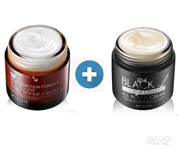 [MIZON] All In One snail Repair Cream 75ml + Black Snail All In One Cream 75ml #Mizon