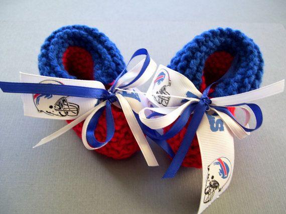 Buffalo BILLS Football Fans Handmade Baby Booties by ZZsTeamTime
