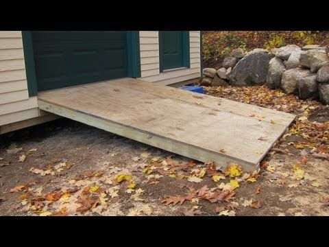 how to build a wheelchair ramp over 2 existing steps