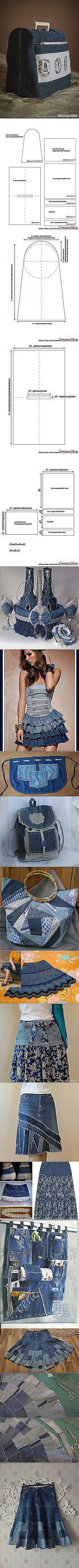 Поиск на Постиле: из старых джинсов