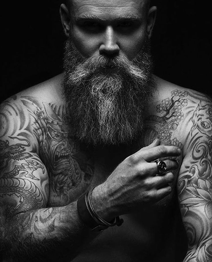 571 best images about beard board on pinterest for Bearded tattooed man