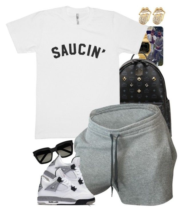 """""""Untitled #1592"""" by power-beauty ❤ liked on Polyvore featuring Casio, MCM, Yves Saint Laurent and NIKE"""