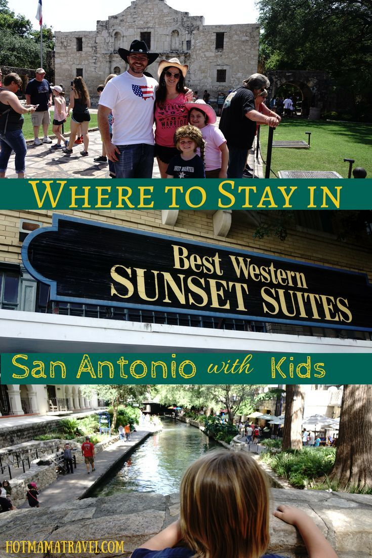 Planning a trip to San Antonio, Texas with kids? I recommend staying at   Best Western Plus Sunset Suites Riverwalk. It is in a historical   building, close to area attractions and has complimentary breakfast.