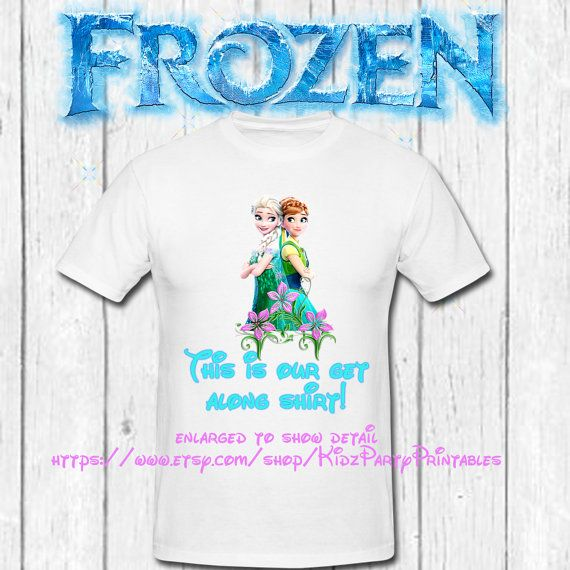 Get along Shirt iron on transfer digital by KidzPartyPrintables