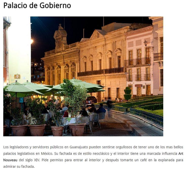 Palacio de Gobierno Municipal, de la Ciudad de Guanajuato.