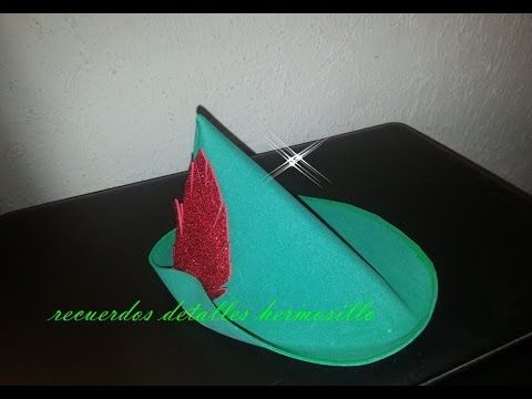 How to Make Party Hats : How to Make a Paper Robin Hood Hat - YouTube