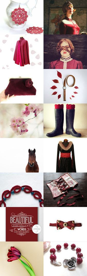 Burgundy dream by Rosalba Crosilla on Etsy--Pinned with TreasuryPin.com