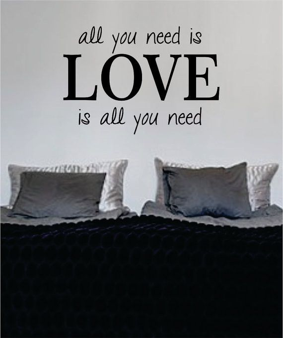 All You Need Is Love Version 2 The Beatles Quote Design Sports Decal Sticker Wall Vinyl