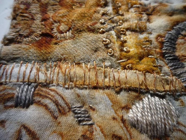 Carol Sloan Studios - love rust on Textiles. Destructive but the ephemeris of the medium is the most interesting......