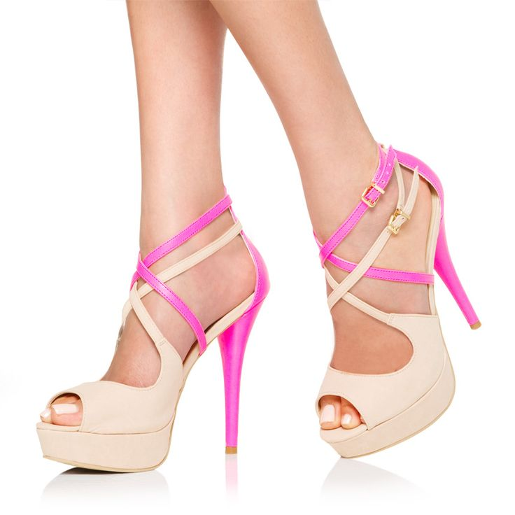 <3: Outfits, Colors Combos, Walks, So Cute, Care Packaging, Closet, Pumps Shoes, Great Ideas, Neon Pink And Nude Heels