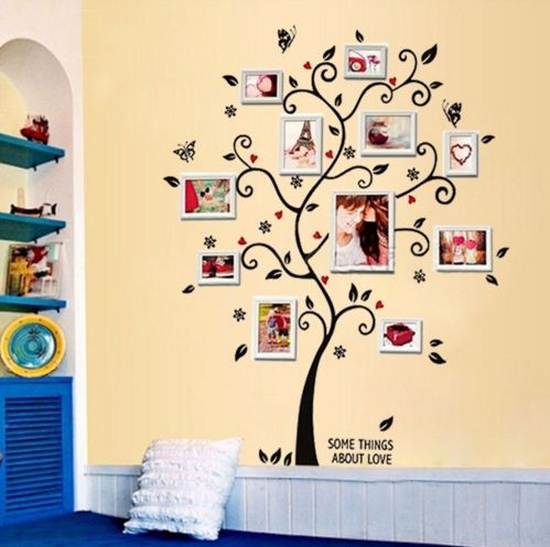 87 best Creative Photo Walls images on Pinterest | Family tree chart ...