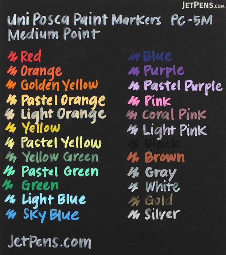 Uni Posca Paint Marker PC-5M - Black - Medium Point - UNI PC5M.24