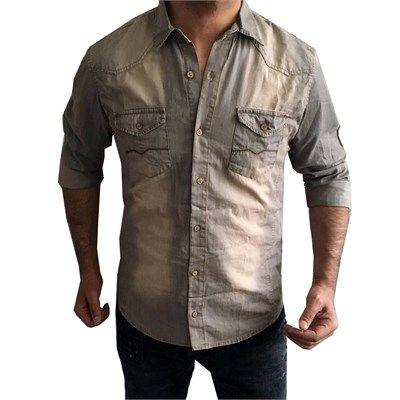 Serseri Erkek Bej Spor Kot Gömlek