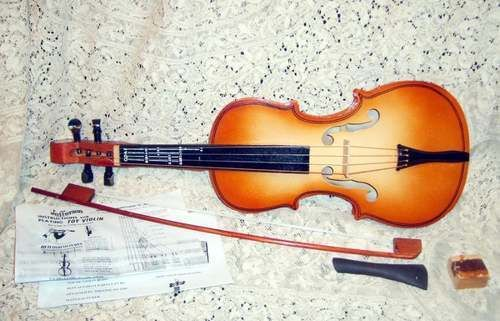 Wood Toy Violin Instrument by Jefferson Co. Inc Brown Color #Jefferson