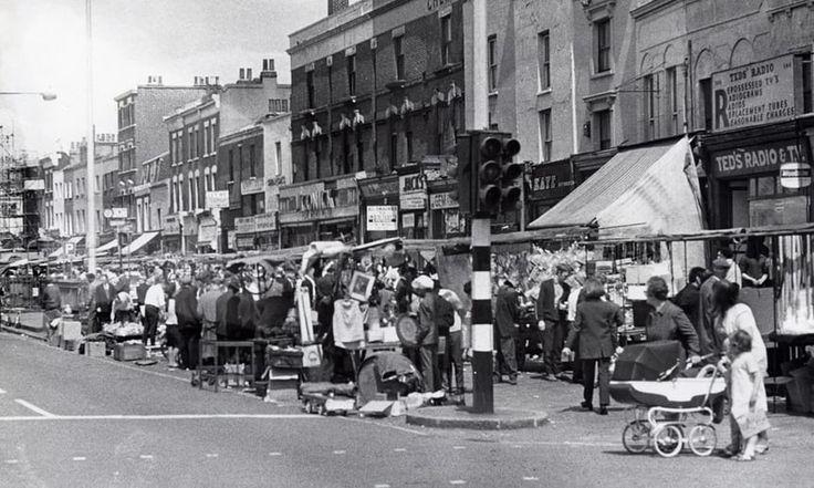 Kingsland Waste market Dalston Hackney during much busier days in 1969.